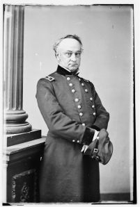 "Maj. Gen. Henry Halleck, a.k.a. ""Old Brains."" His orders placed Meade in command of the Army of the Potomac (Library of Congress)."