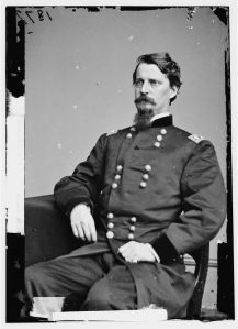 Major General Winfield Scott Hancock had been wounded during the third day's fighting at Gettysburg. His wound troubled him for the rest of the war (Library of Congress).