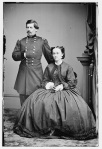 General George B. McClellan strikes a Napoleonic pose with his wife by his side (Library of Congress).