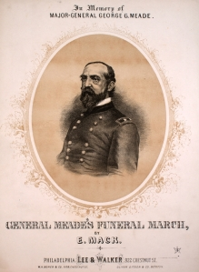 A piano piece written to commemorate the death of Major General George Gordon Meade in 1872 (Johns Hopkins).
