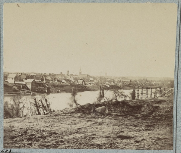 A view of Fredericksburg, taken in February 1863. So near, and yet so far.