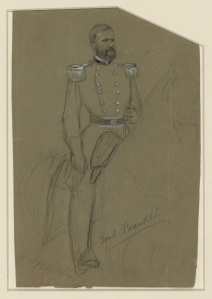 An Alfred Waud drawing of General William Franklin (Library of Congress).