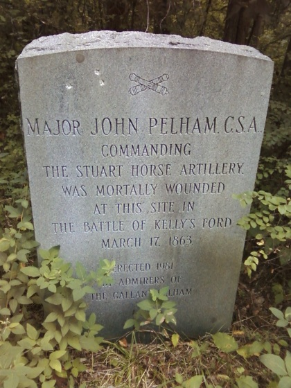 The Pelham monument near Kelly's Ford.