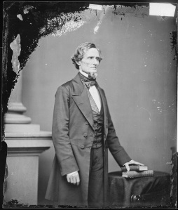 Confederate President Jefferson Davis. As secretary of war under President Franklin Pierce, Davis had signed one of Meade's commissions (National Archives).