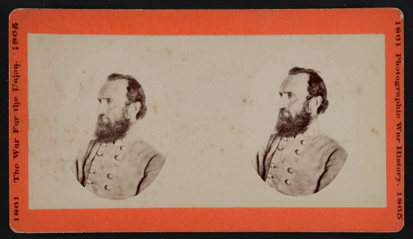 "Confederate General Thomas ""Stonewall Jackson, who was mortally wounded at Chancellorsville on May 2, 1863 (Library of Congress)"