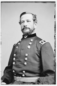 "Alfred Pleasonton. At Gettysburg Maj. Frank Haskell described him as ""quite a nice looking dandy"" (Library of Congress)."