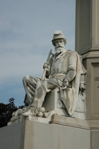 Detail of the Soldiers National Monument at Gettysburg's National Cemetery (Tom Huntington).