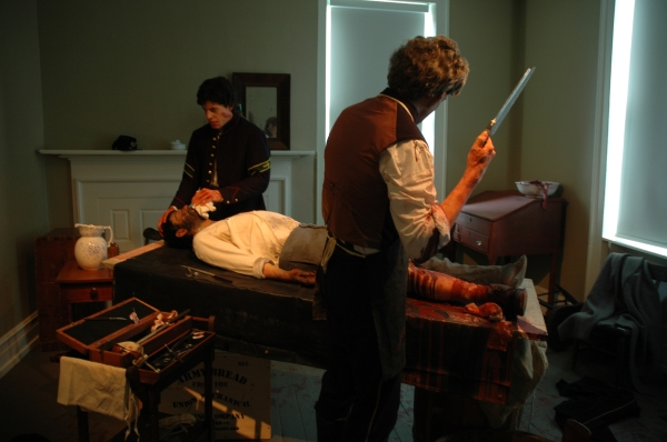 A life-like Civil War surgery at the Seminary Ridge Museum.
