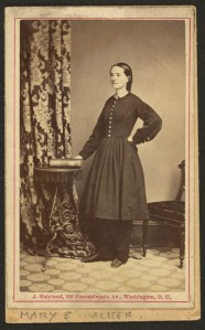 "Mary E. Walker, the ""female doctor"" Lyman encountered on the train (Library of Congress)."