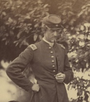 Ulric Dahlgren, in a close-up from Gardner's photograph (Library of Congress).