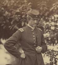 Ulric Dahlgren, in a close-up from Gardner's photograph (Library of Congress).
