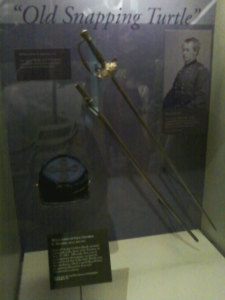 Meade's display in the Gettysburg visitor center museum (Tom Huntington).