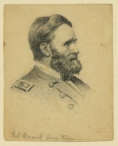 A sketch of Ulysses S. Grant by Alden Finney Brooks (Library of Congress).