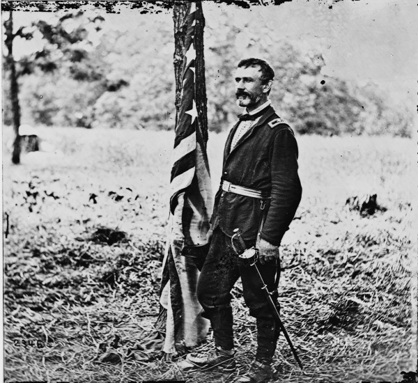 Gen. Andrew Humphreys, in a photo taken during the 1862 Peninsula campaign (Library of Congress).