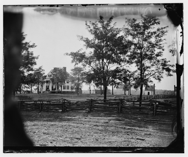 The home of John Minor Botts, site of the II Corps review that Theodore Lyman writes about (Library of Congress).