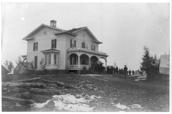 The headquarters of Joseph B. Carr in Culpeper, Virginia. Carr commanded the 3rd division of the III Corps but was transferred to the Army of the James just before the Overland Campaign began (Library of Congress).