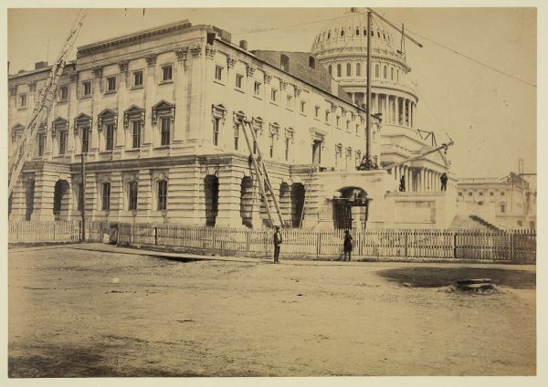 The United States Capitol Building in July 1863 (Library of Congress).