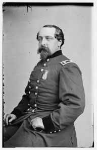 Brig. Gen. Edward Ferrero. A former dancing instructor, he commanded a division of African American soldiers (Library of Congress).