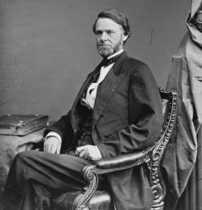 Senator John Sherman. His resemblance to his older brother, the general, is striking (via Wikipedia).