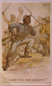 """""""Make Way for Liberty!"""" by illustrator Henry Louis Stephens, circa 1863 (Library of Congress)."""