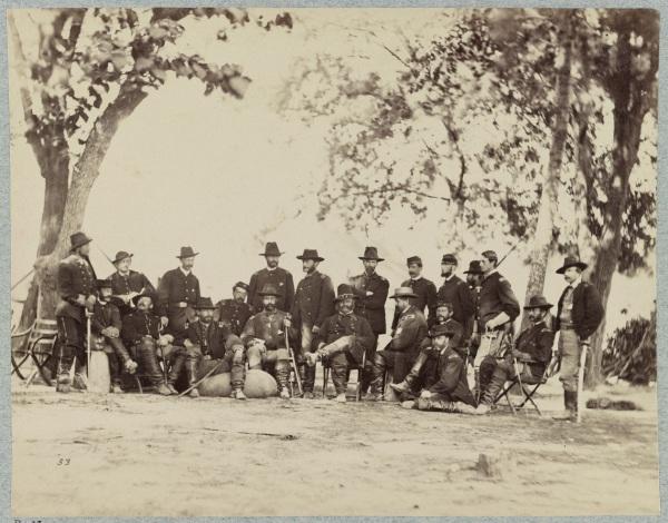 IX Corps commander Ambrose Burnside and staff.