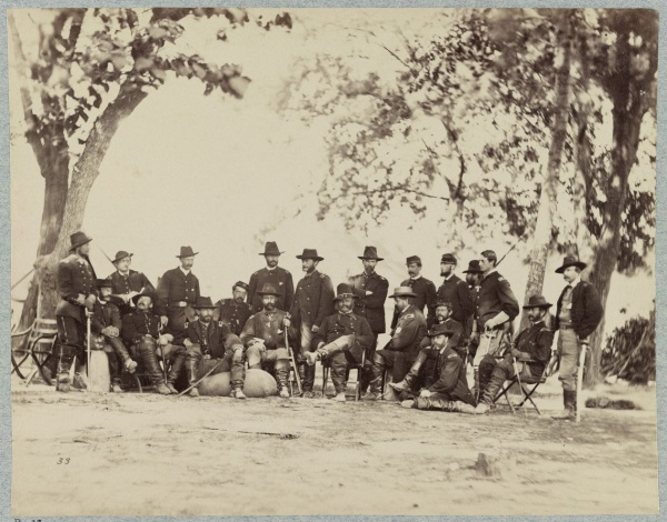 IX Corps commander Ambrose Burnside and staff.
