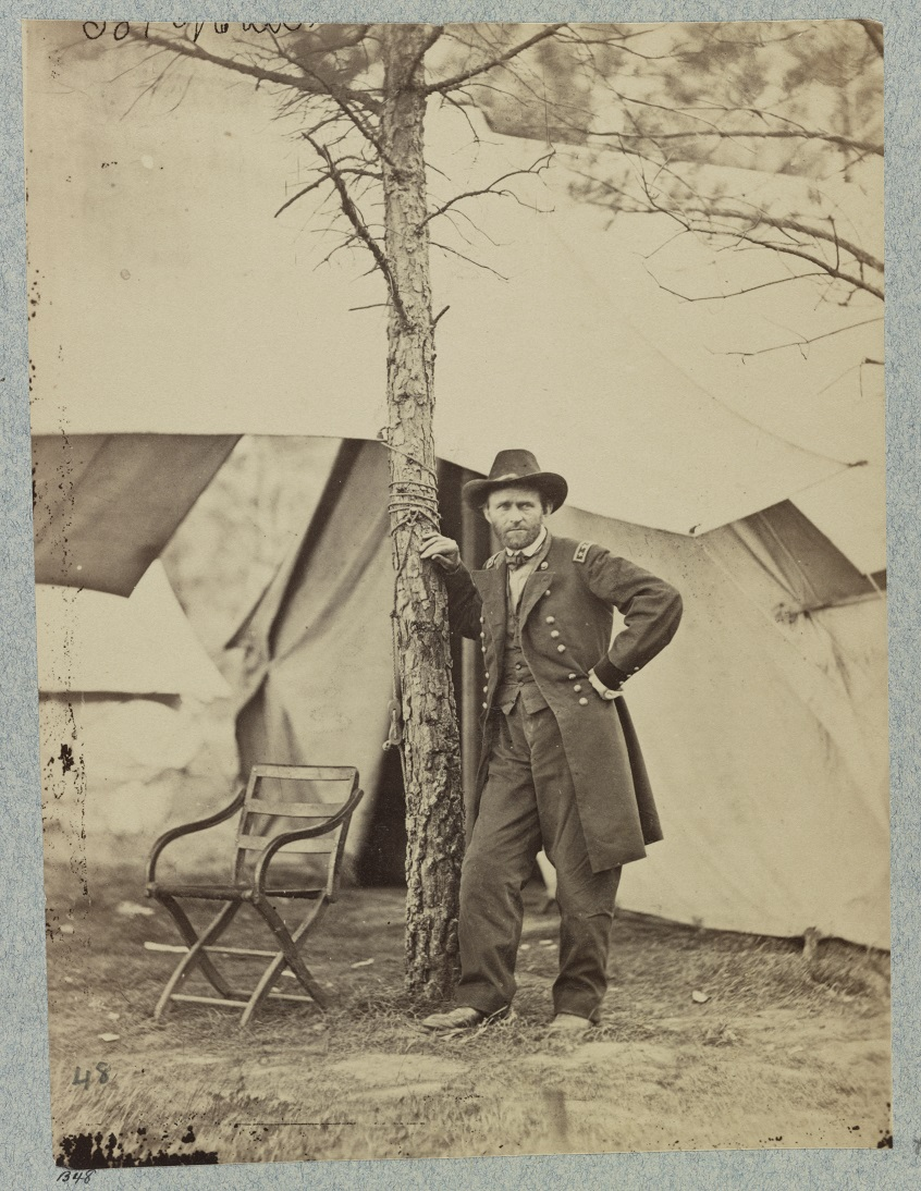 An iconic image of Ulysses S. Grant in front of his headquarters tent at Cold Harbor. & Photo Sessions (June 1864) | Searching for GEORGE GORDON MEADE