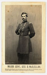 General George McClellan. Lyman believes he was the Union's best general (Library of Congress).