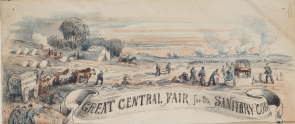 Letterhead from Philadelphia's Great Central Sanitary Fair (Library of Congress).