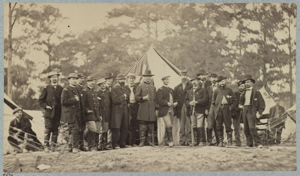 VIC Corps commander Horatio Wright and staff.