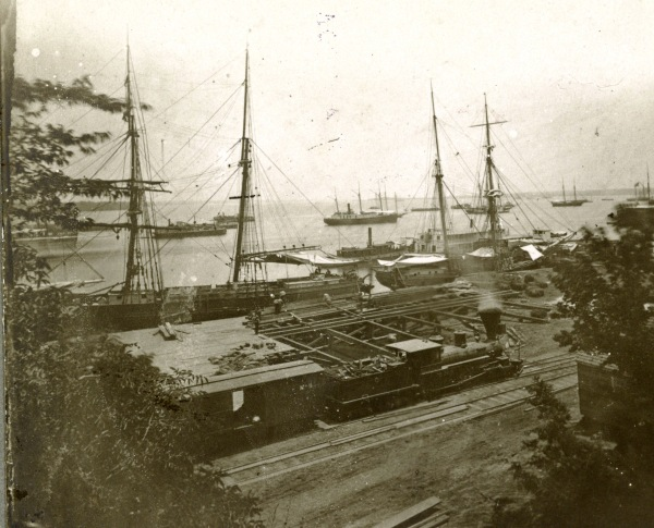 A photograph of City Point, taken on July 5, 1864 (Library of Congress).