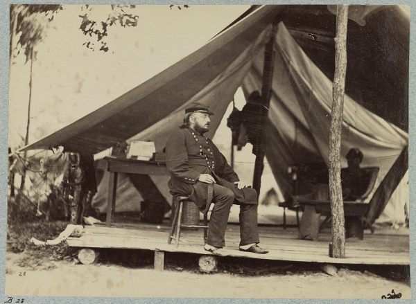 Benjamin Butler, photographed at Bermuda Landing in late July or early August, 1864 (Library of Congress).