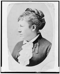 Julia Grant, in a photo taken after the war (Library of Congress).
