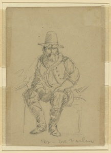 Dr. Thomas Andrew McParlin, the Army of the Potomac's medical director, in a sketch by Alfred Waud (Library of Congress).