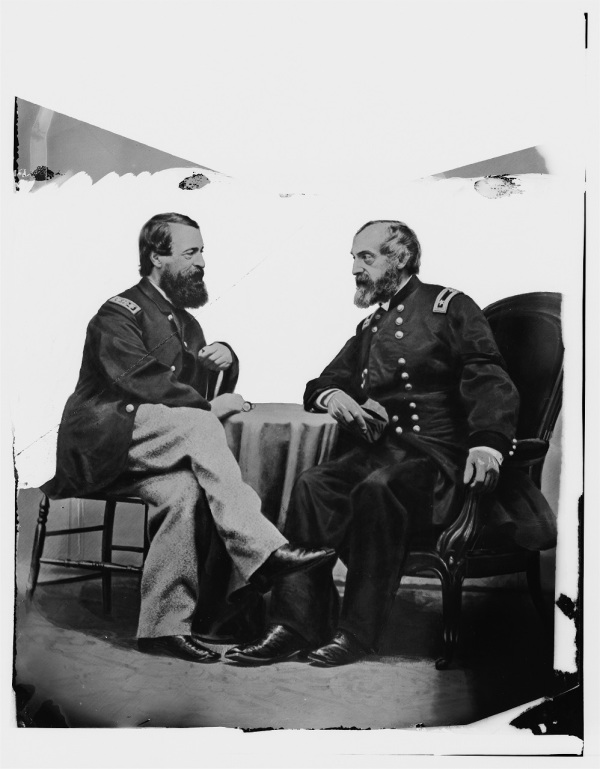 """Admiral Porter and General Meade"" (Library of Congress)."