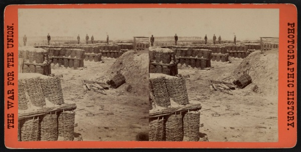 A stereo view of Fort Hell, a.k.a. Fort Sedgwick (Library of Congress).