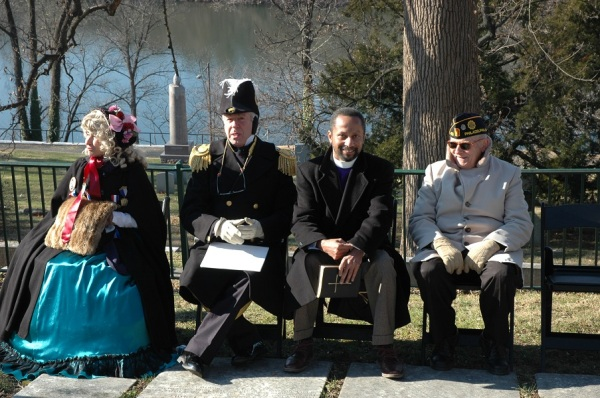 The speakers at this year's graveside ceremony (Tom Huntington photo).