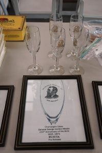 And we also bought a couple of Meade bicentennial champagne glasses. They will be perfect for the birthday celebration on December 31.