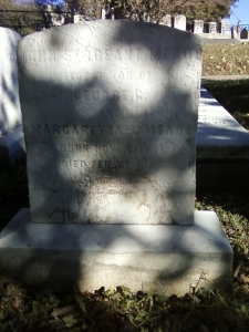 The gravestone for John Sergeant Meade, in Philadelphia's Laurel Hill Cemetery.