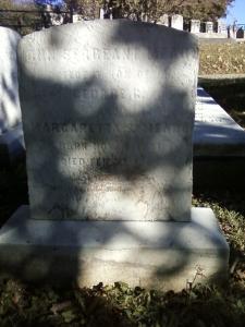 The gravestone for John Sergeant Meade, in Philadelphia's Laurel Hill Cemetery.
