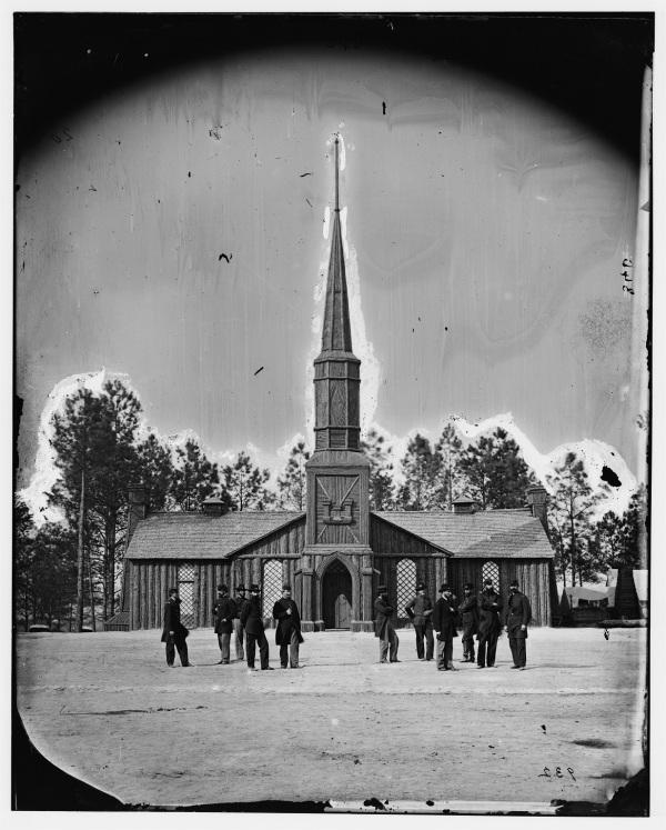 A Timothy Gardiner photograph of the Poplar Grove Church (Library of Congress).
