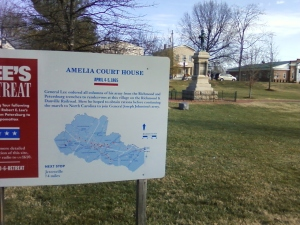 A view of Amelia Courthouse today. Lee was delayed here while he waited for his army to concentrate and for rations that never arrived.
