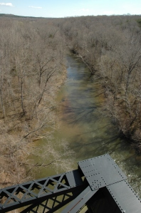 A view of the Appomattox River from High Bridge.