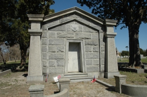 The Mahone mausoleum at Blandford Cemetery.
