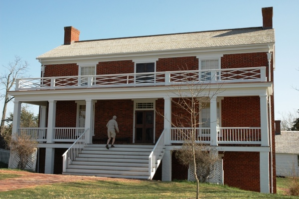 The reconstructed McLean house, as it appears today.