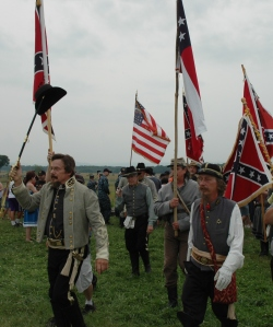 One of two Lewis Armisteads at Gettysburg on July 3. The real George Pickett never got this far (Tom Huntington photo).