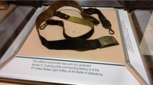 Alonzo Cushing's belt at the National Civil War Museum (Beth Ann Huntington photo).
