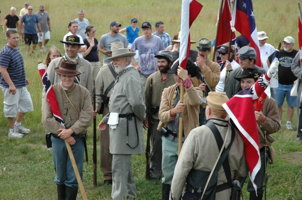 Modern rebels at Gettysburg, 152 years later (Tom Huntington photo).