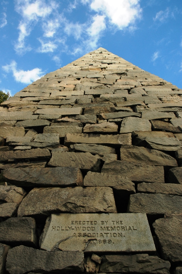 The cemetery's pyramid.