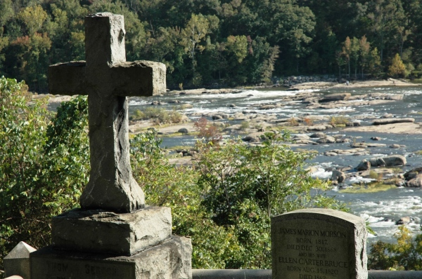 Tomb with a view. From the Seddon family plot at Hollywood Cemetery.